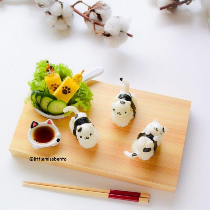 cuatro ideas de sushi para niños