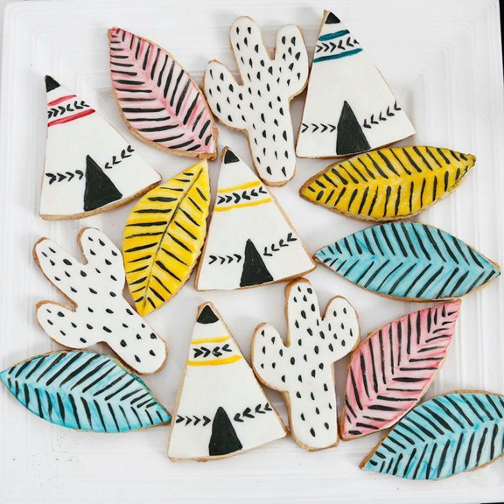 fiesta infantil de indios para niños galletas