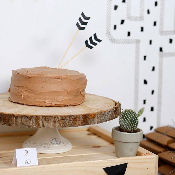fiesta infantil de indios para niños tarta de cumpleaños