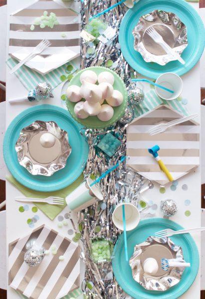 ideas para decoración azul metálico