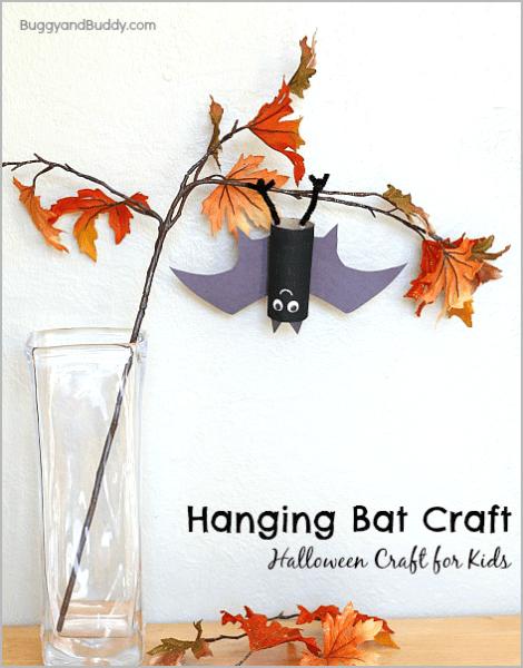 Manualidad de Halloween Original: ¡un Murciélago Colgando!
