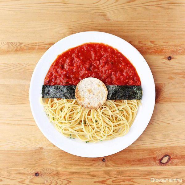 Spaguettis con Forma de Pokeball