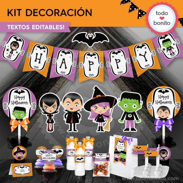 Imprimibles de Todo Bonito para Halloween