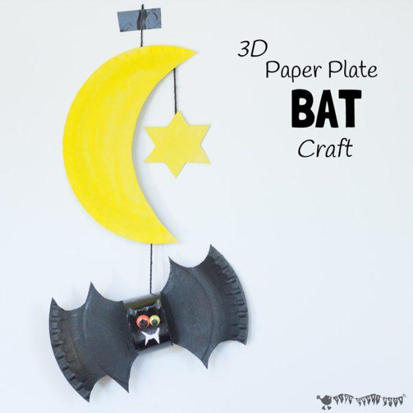 Móvil Casero de Murciélago para Halloween