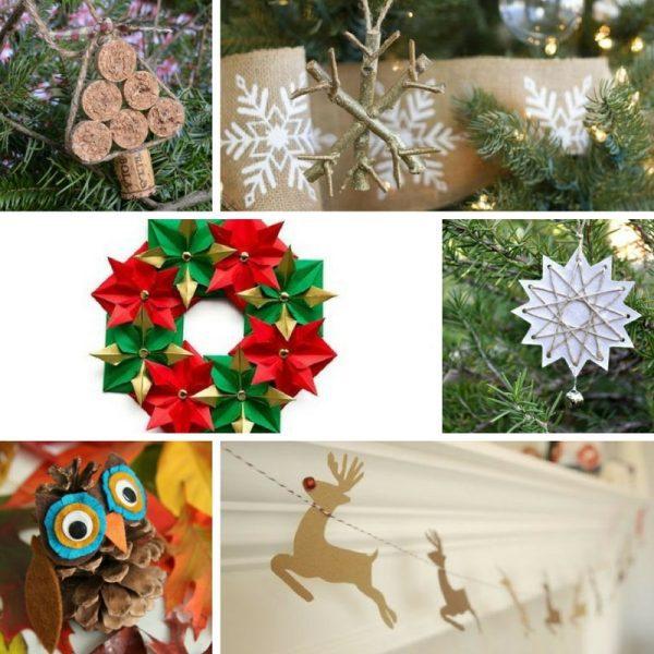 32 Manualidades y Adornos Caseros para Navidad
