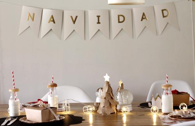 Cómo decorar un mesa de Navidad para niños