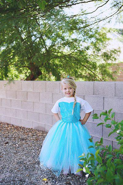 Disfraz Infantil Casero de Elsa de Frozen