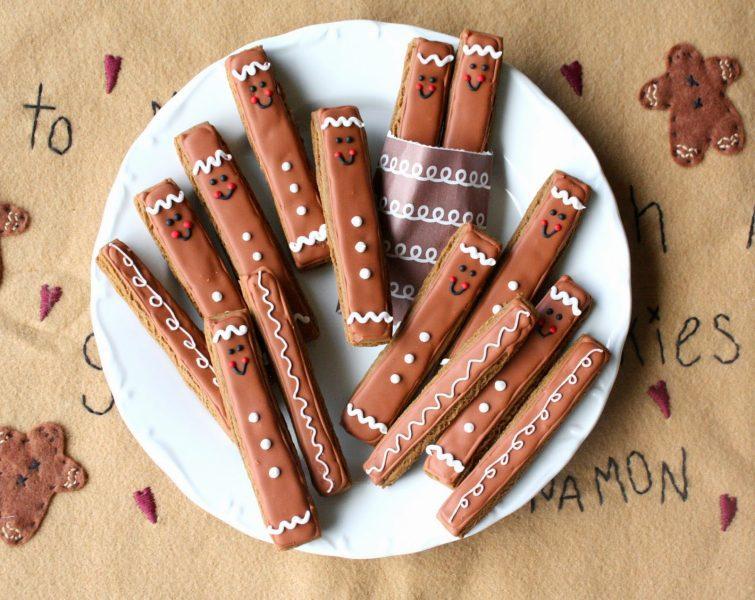 Galletas de jengibre de chocolate para los peques