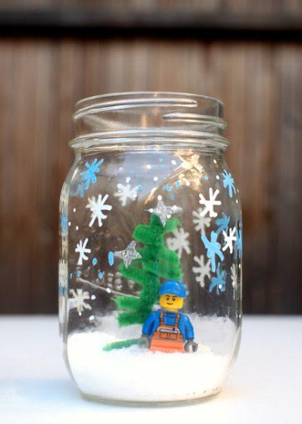 Manualidades de Navidad: Bola de Nieve de Lego