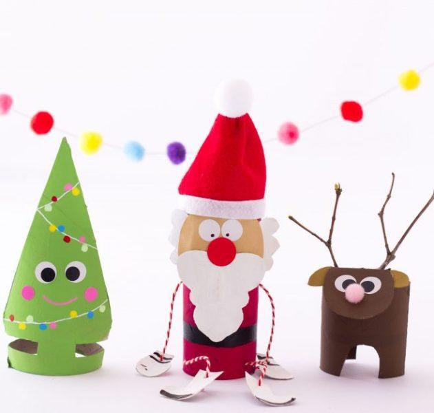 Manualidades de Navidad con Rollos de WC