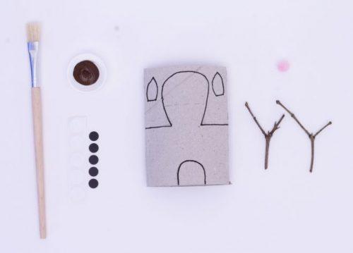 manualidades-tubo-de-carton-reno-rudolph