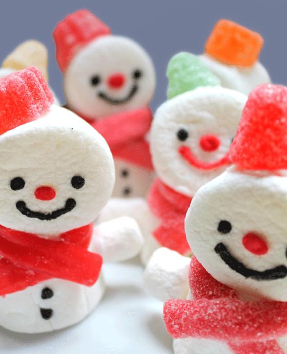 Recetas de Navidad para Niños: Muñecos de Nieve con Chuches