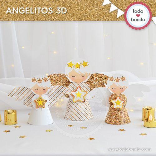 navidad-glitter-dorado-angelitos-3d
