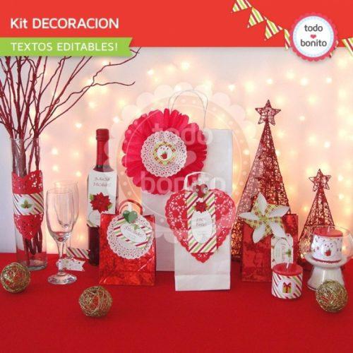 navidad-verde-y-rojo-kit-decoracion-imprimible