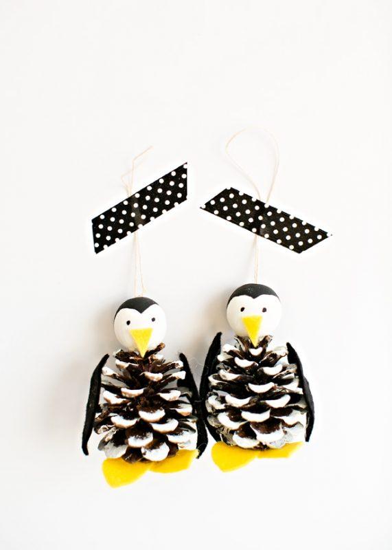 pinguinos-con-pinas-manualidades-recicladas-navidad