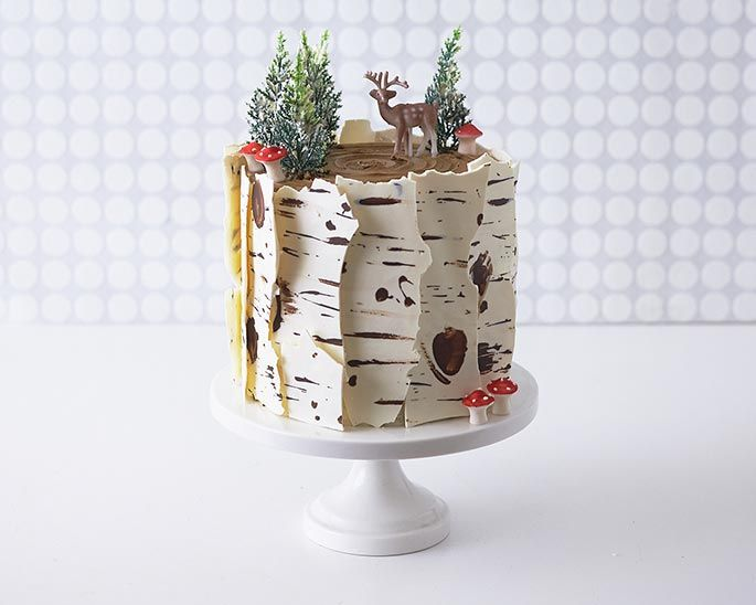 Tarta de Chocolate Blanco para Cumpleaños de Invierno
