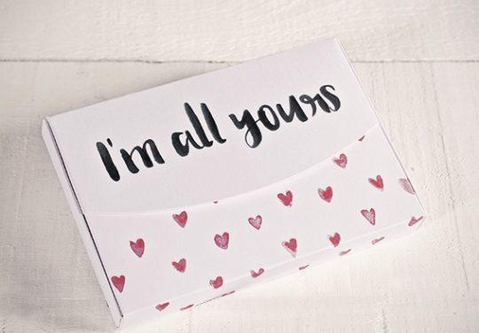 Cajas preciosas para hacer regalos en San Valentín