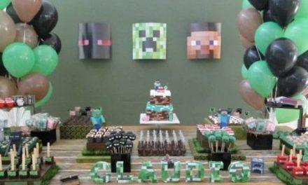 Fiesta temática de Minecraft para niños