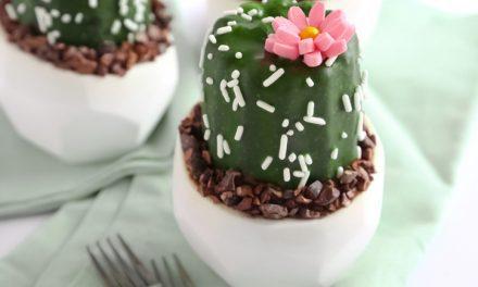 Cupcakes con forma de cactus para fiestas infantiles