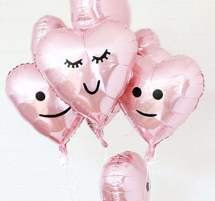 Ideas para decorar globos en San Valentín