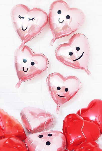 Ideas para decorar globos en San Valentín , Fiestas y Cumples