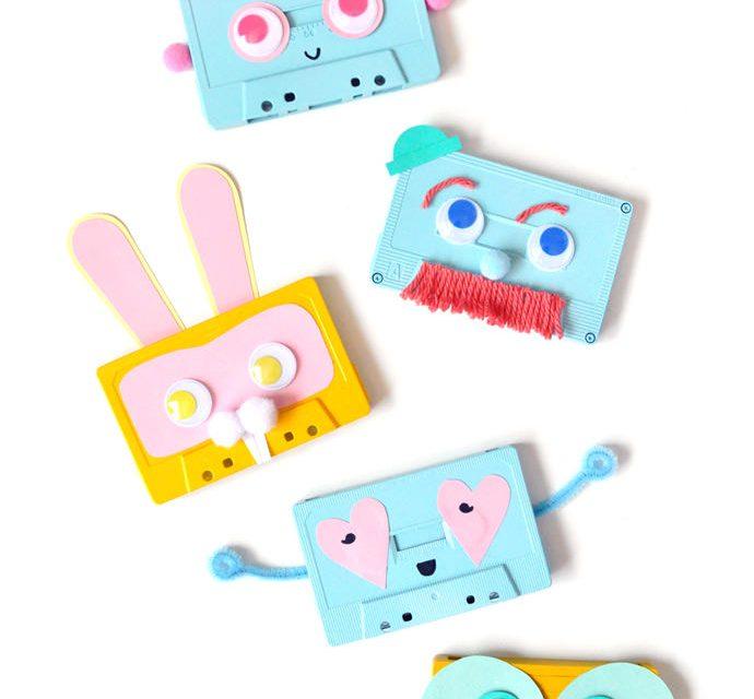 Manualidades recicladas: cassettes viejos