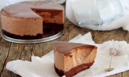 Receta de Tarta Mousse sin Horno de Chocolate y Yogur