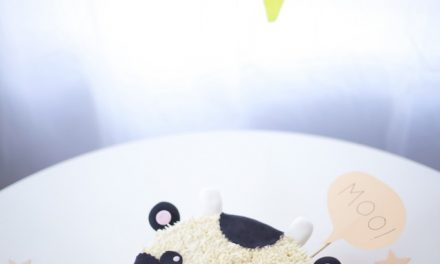 Tarta de cumpleaños de vaquita