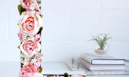 Manualidades con Flores: Cómo Hacer una Letra con Flores