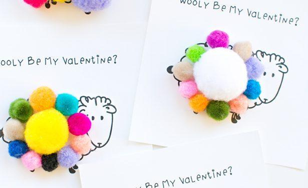 Tarjetas para San Valentín: ¡Ovejitas!