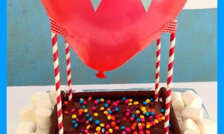 Tarta para Cumpleaños con Globo Aerostático