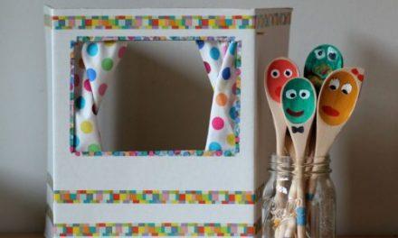 Teatro de Marionetas con Cucharas: Manualidad para Niños