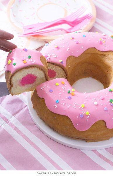 Tarta De Cumplea 241 Os Original Y Creativa 161 Donut Gigante