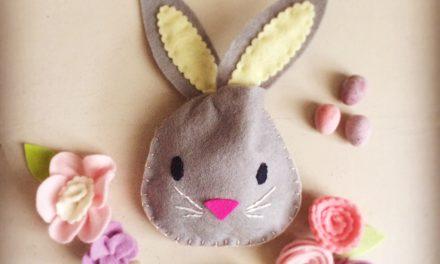 Bolsa de fieltro del Conejo de Pascua