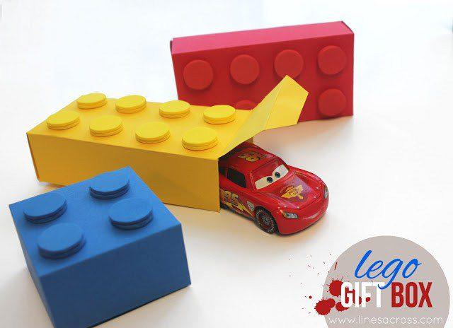 Cajas de regalo para cumpleaños de Lego: DIY imprimible