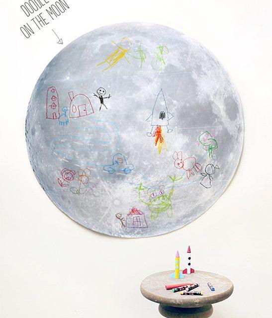 Dibujar en la Luna: manualidad con niños