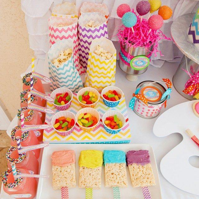Fiesta de cumpleaños a todo color: ¡divertida y original!