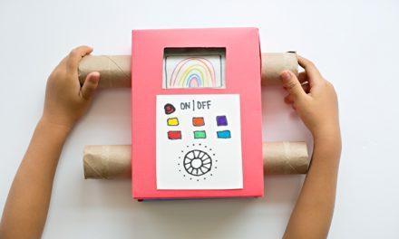Manualidades con cartón: televisión para niños