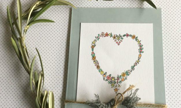 Tarjeta de San Valentín DIY hecha en casa