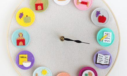 Reloj DIY muy original que dice lo que toca hacer