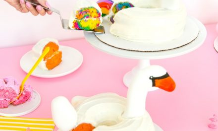Decoración de tartas infantiles: flotadores de animales