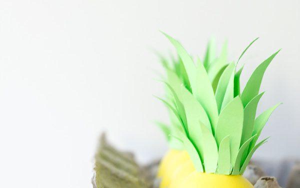 Decoración de huevos de Pascua: ¡ahora son piñas!