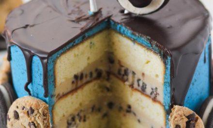 Tarta de cumpleaños del Monstruo de las Galletas