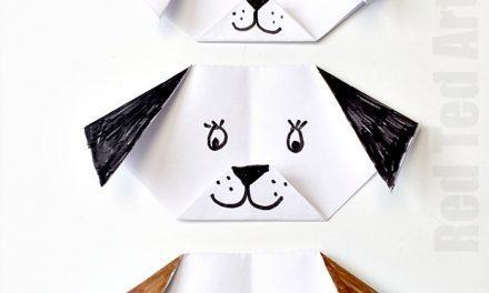 Perrito de origami: manualidades con papel para niños