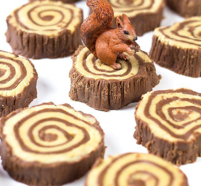 Rollos de chocolate para fiestas infantiles