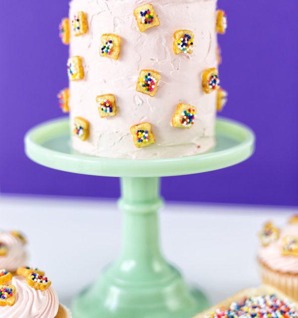 Decoración exprés para las tartas: tostaditas de confetti