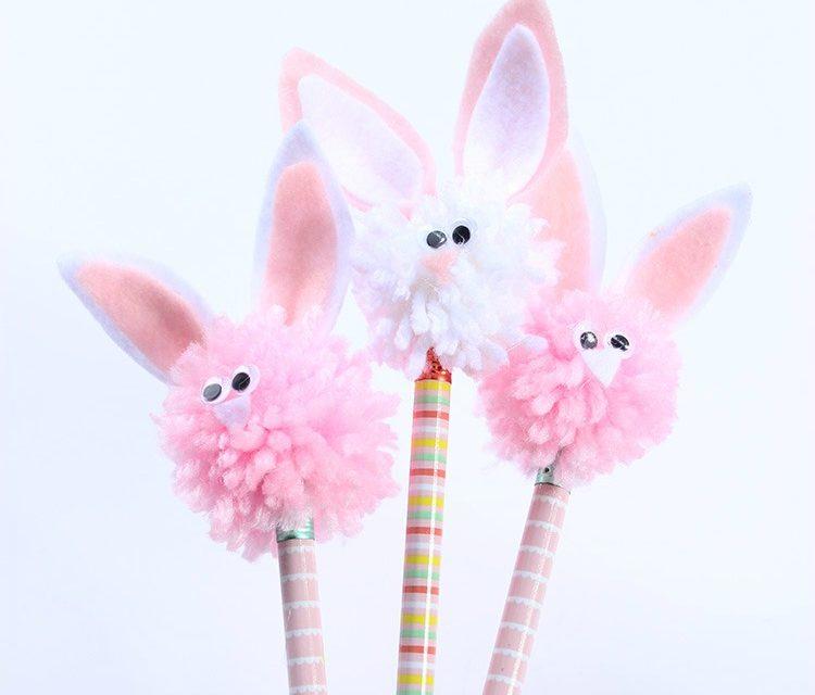 Adornos para lápices: decoración DIY con toppers de conejitos