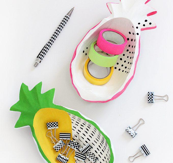DIY de decoración: cuencos de piña para guardar cosas