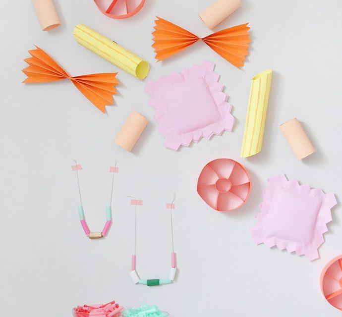 Decoración de fiestas infantiles: ¡pasta gigante!