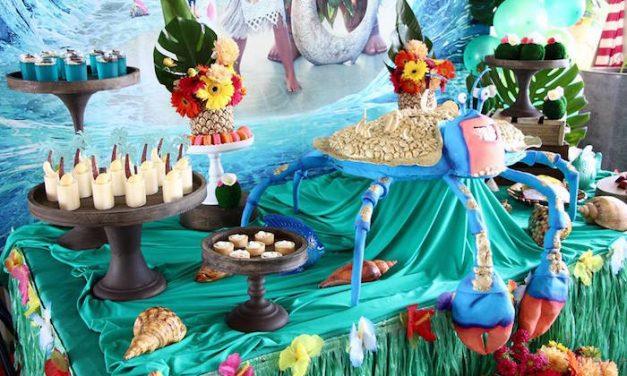 Cumpleaños de Moana / Vaiana: fiesta infantil de princesas de Disney